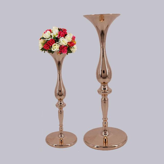 Wholesale 10 Pieces Metal Trumpet Flower Ball Holder 19 23 Tall