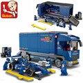 F1 Corridas de Fórmula 1 de Série do carro compatível com legominifugures 641 pcs iluminar tijolos Blocos educacionais brinquedos para as crianças
