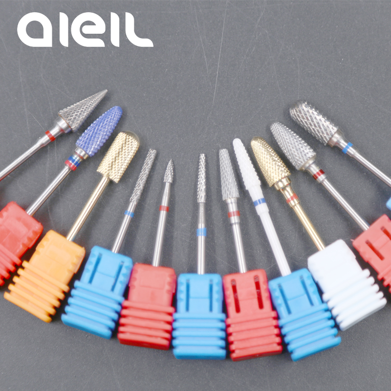 Ceramic Milling Cutters For Manicure Nail Drill Bits Ceramic Tungsten Carbide Nail Drill Bits Manicure Milling Cutters For Nail