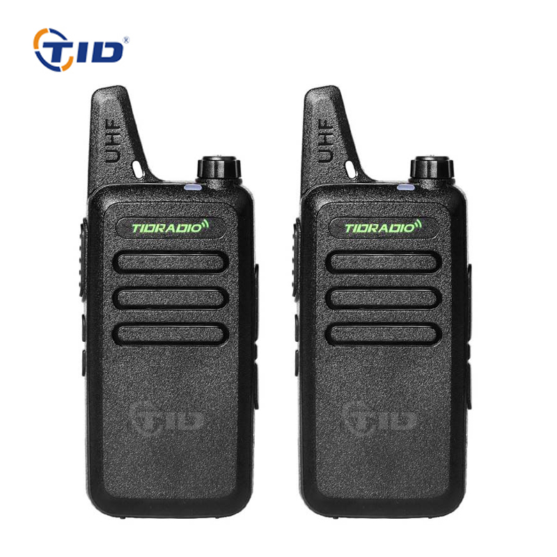 2pcs Mini Walkie Talkie TD-M8 16CH UHF 400-470MHz  Radio Station Two-way Radio Portable Ham Radio CB For Kids Walkie Talkie