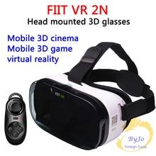 FIIT VR 2N Google cartón Versión caja Gafas de Realidad Virtual Gafas 3D HD VR vr y blanco Bluetooth gamepad