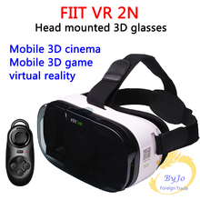FIIT VR 2N Google cardboard Version Virtual Reality 3D Glasses HD VR Glasses vr box and white Bluetooth gamepad