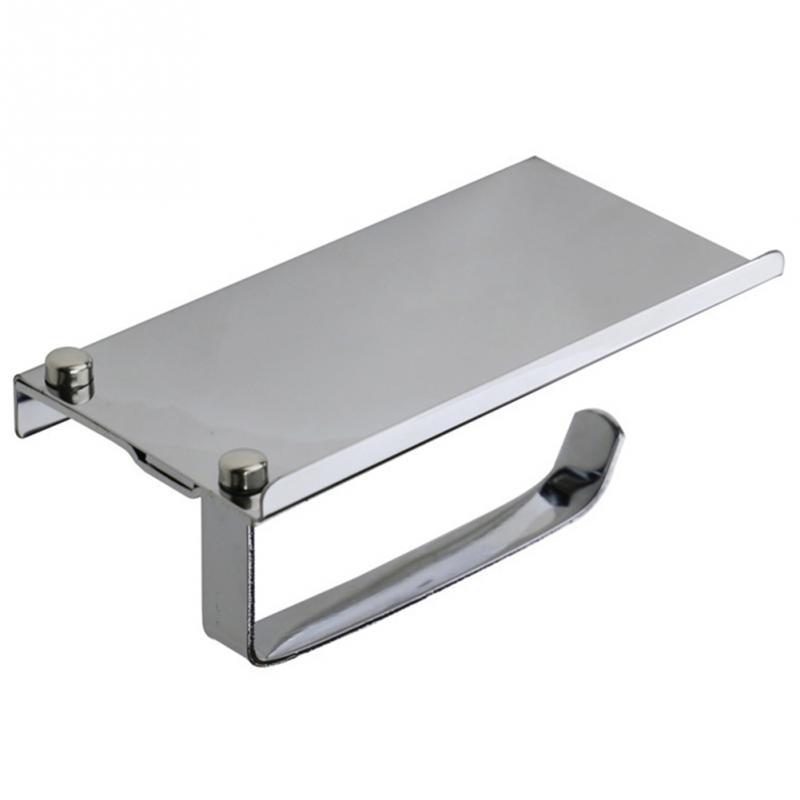 Stainless Steel Bathroom Paper Phone Holder Toilet Roll Paper Holder Shelf Towel Hanger Rack For Bathroom Accessories