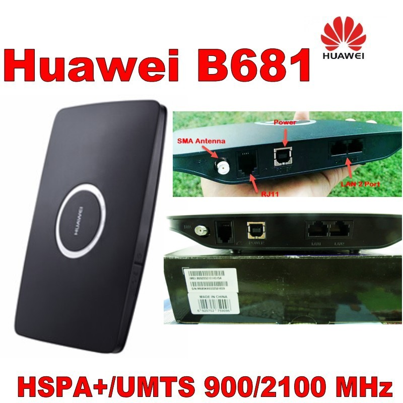 100% brand new huawei b681 lan router,28.8mbps 3g huawei b681 & 5dbi 3g external antenna