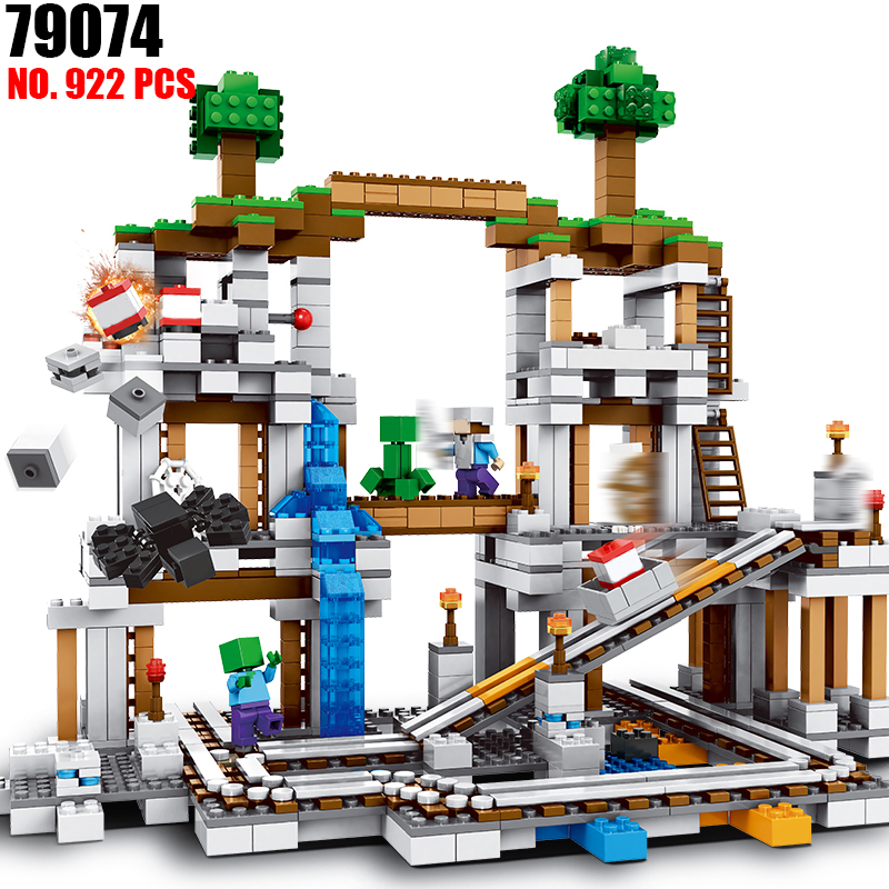 My Worlds Minecraft The Mine Model Building Blocks Toys Hobbies For Children 10179 Model Building Kits Compatible 21118 уэллс г война миров the war of the worlds