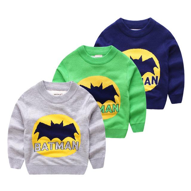 2016 Nuevos Niños Bobo Choses Suéter Puente Patrón Batman Para Niños Niñas Bebé Ropa de Otoño Suéteres de Otoño Invierno Ropa de Los Muchachos