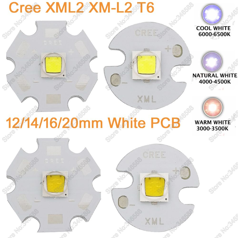 Home original cree xm l2 xml2 led emitter lamp light cold white - 1x Cree Xlamp Xml2 Xm L2 T6 Cool White Neutral White Warm White 10w High