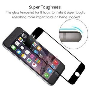 Image 5 - 2Pcs 3D Volle Abdeckung Gehärtetem Glas für iPhone 8 7 6 6s Plus 5 5s SE Bildschirm protector Auf iPhone X XS 11 Pro Max XR Schutzhülle Film