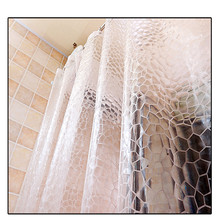 New Shower curtain waterproof transparent water Cube PEVA  shower bath curtain thick bathroom shower curtain cortina ducha