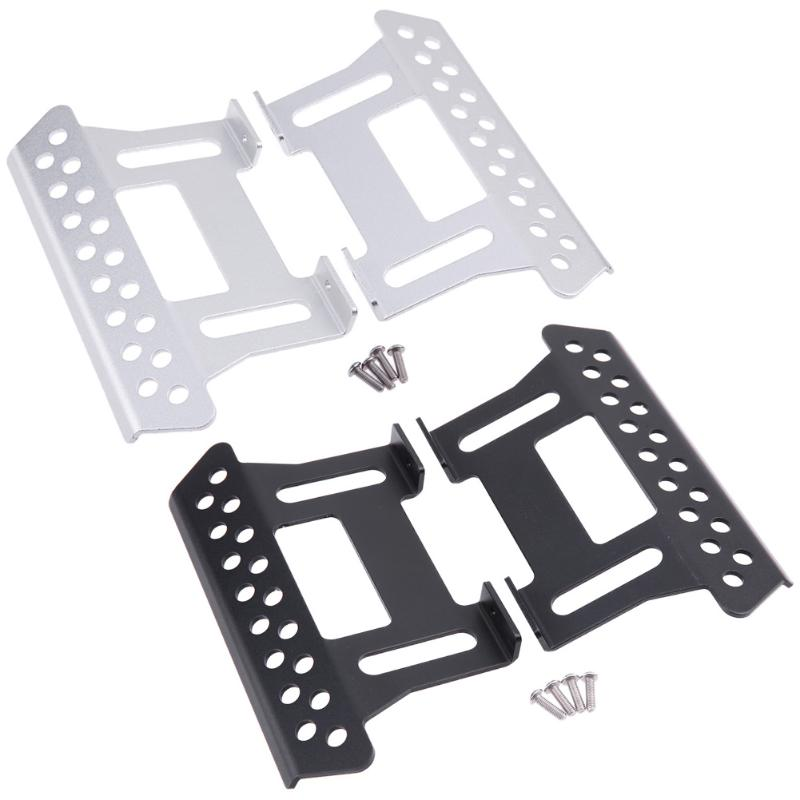 2pcs/Set Metal Foot Pedal Plate for 1/10 Axial RC Crawler Car Accessories for 1/10 Axial SCX10 RC Crawler Car Parts&Props 2pcs 2 2 metal wheel hubs for 1 10 scale rc crawler car nv widen version outer beadlock wheels diameter 64 5mm width 43 5mm