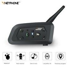 VNETPHONE V6 Citofono 850 mAh Casco Auricolare Bluetooth Moto Comunicador Altoparlante Della Cuffia per 6 Piloti IP65 MP3 GPS
