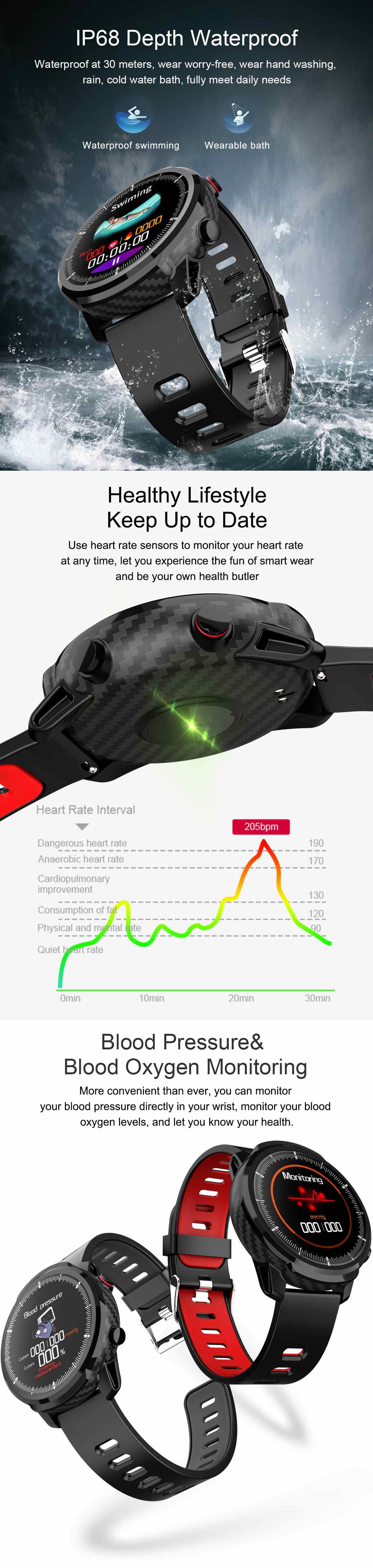 oxigênio pressão arterial tempo exibição smartwatch banda