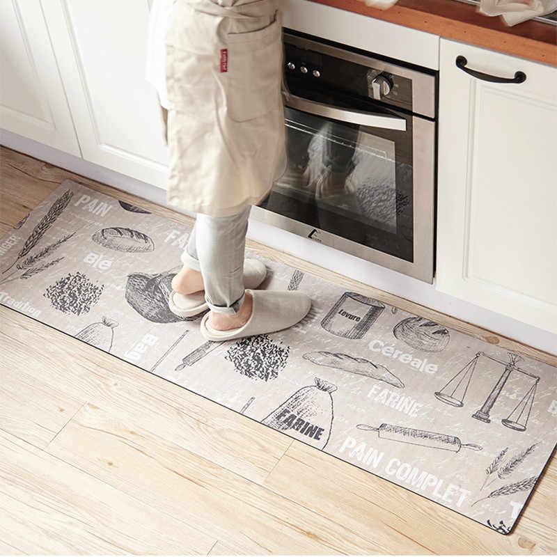Bread Wheat Printed Kitchen Floor Mat