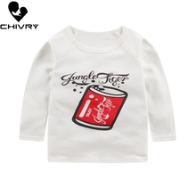 Chivry Summer Kids Boys T Shirt Cute Cartoon Print Long Sleeve Baby Girls T-shirts Cotton Children T-shirt O-neck Tops Boy Cloth цена
