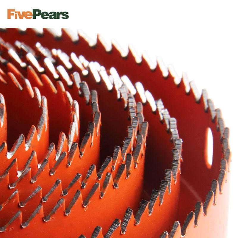Foro Seghe Set di Taglio Kit di Perforazione Strumento di Legno Fresa In Metallo 19-127mm di alta qualità Mandrini Seghe s Core punte da trapano La Lavorazione Del Legno