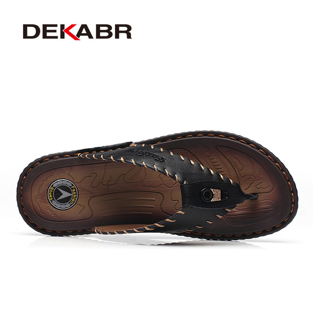 DEKABR New Arrival Summer Men Flip Flops High Quality Beach Sandals Non-slip Male Slippers Zapatos Hombre Casual Shoes Men 1