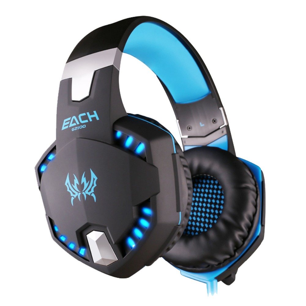 led light heavy bass Gaming Headphone 3.5mm HiFi Wired Adjustable Earphone PC Gamer Stereo Headset with Mic for PC PS4 XBOX ONE ...
