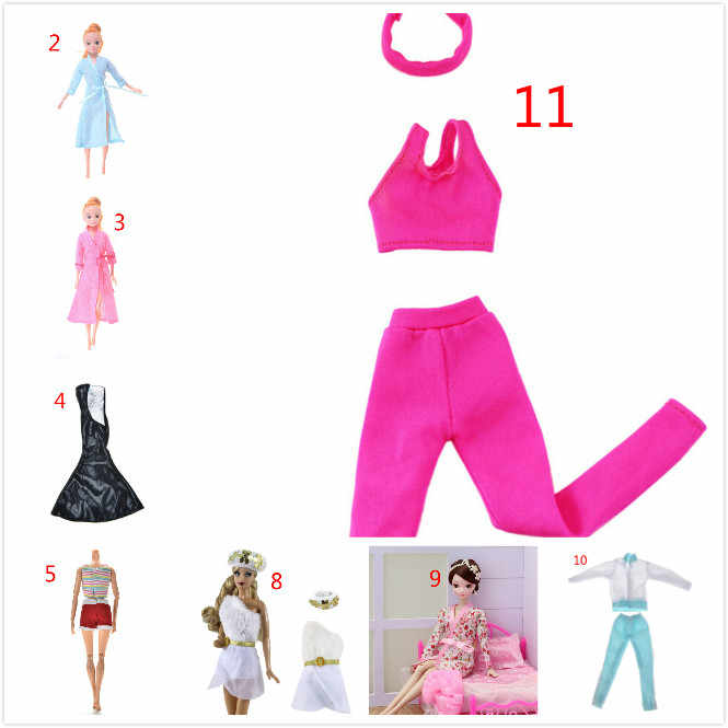 Handmade casual outfit Doll Clothes Suit For Barbies Doll Pink Color Yoga Sportswear For DOLL