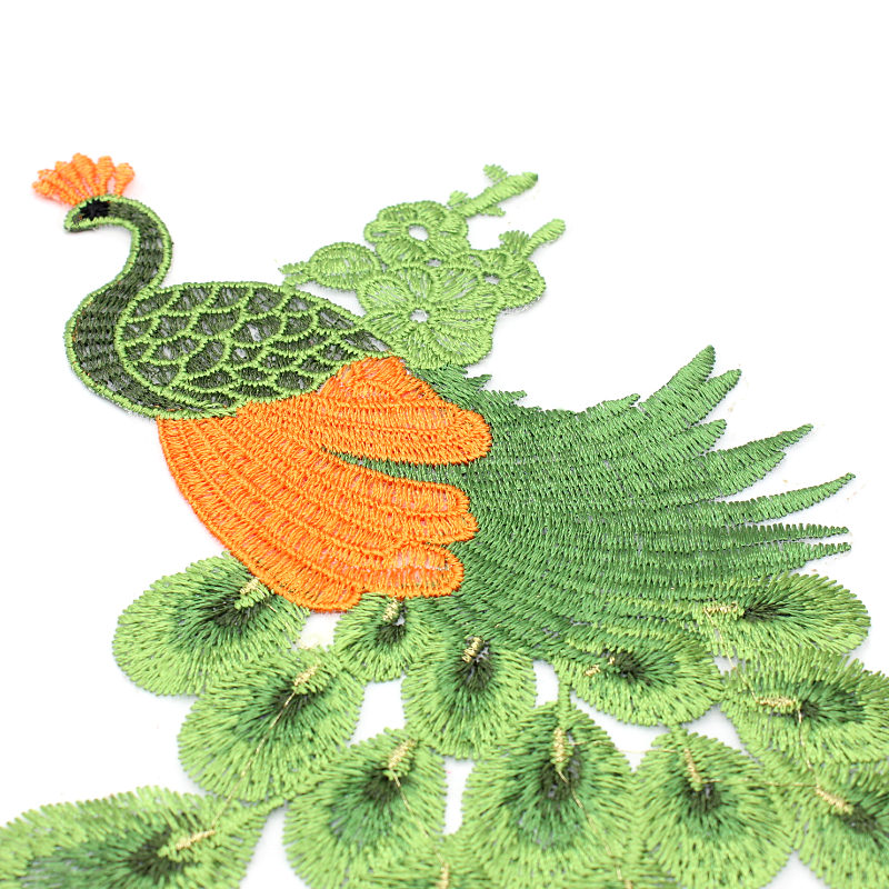 1PC Beautiful Peacock Birds Patch Craft Sewing Embroidered Iron On Applique DIY Clothing Accessories in Patches from Home Garden