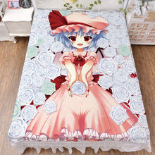 Anime TouHou Project character sexy girl Patchouli Knowledge  Flandre Scarlet  bed milk fiber sheet   flannel