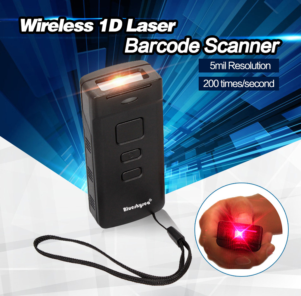 Upgraded CT30 Mini Pocket Wireless 1D Laser Barcode Scanner High Speed 1D Code Decoder Reader Bluetooth 1D Scanner Wireless внешний накопитель 16gb usb drive