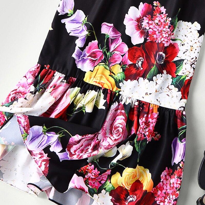 Mode Courroie Haute Magnifique Femmes Gaine Floral Piste Imprimé Sirène Robe Qualité 2019 De Nouvelle HfSwwt8q