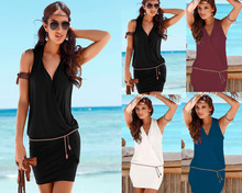 New dress deep V-neck casual beach