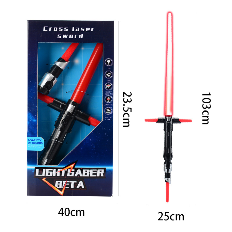 Kylo Ren Lightsaber Music And Light Sword Toys 100cm Action Toy For Children Darth Vader Lightsaber Swords Light Sword Toys ...