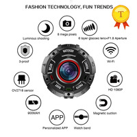 2018 Hot Full hd 1080p sports Wifi camera smart watch wearable device with camera 2K Waterproof case HD wide angle lenses
