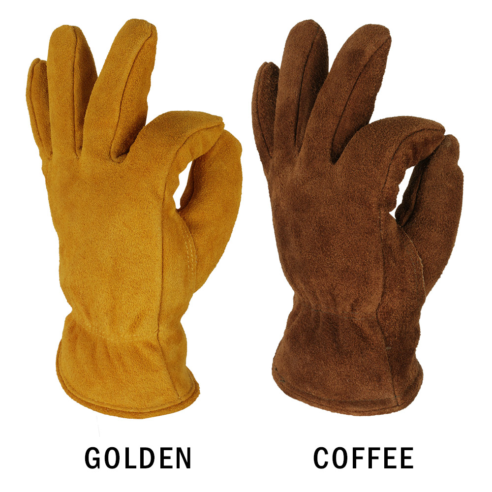 Image 4 - OZERO Men's Work Driver Gloves Cowhide Winter Warm Cashmere Windproof Security Protection Wear Safety Working Woman Gloves 2008-in Safety Gloves from Security & Protection