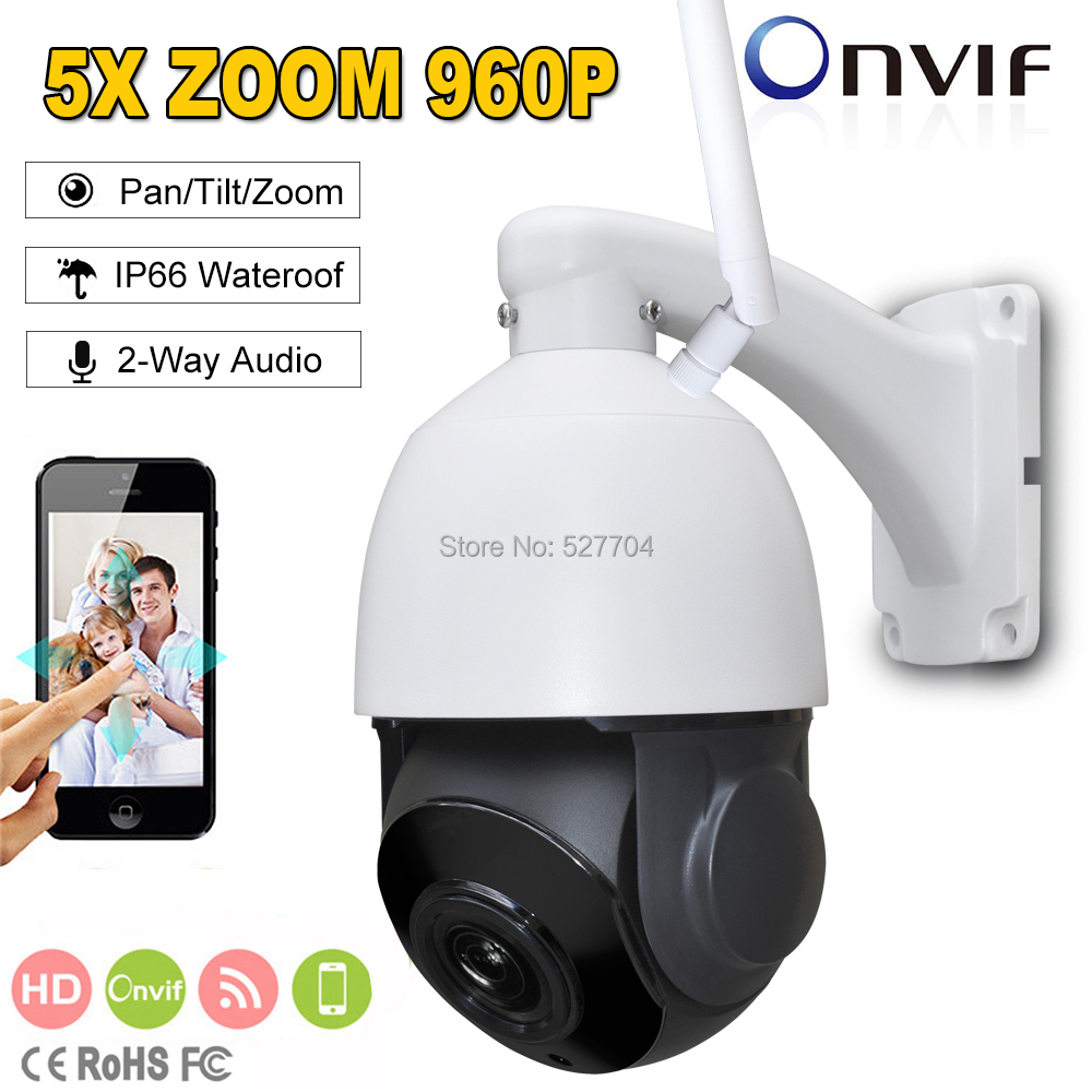 Fayele Wireless WIFI IP Speed Dome PTZ Camera 1.3MP 960P 2.7~13.5mm 5X ZOOM 80m IR distance 2-way Audio P2P Mobile View SD CARD outdoor security full hd 1080p wireless ip camera 2 way audio 2mp 4 mini wifi speed ptz camera 4x zoom p2p mobile view sd card