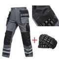 Рабочие мужские рабочие брюки Qveralls  мульти-одежда с карманами  рабочие механические брюки-карго  рабочая одежда  брюки для ремонта машин