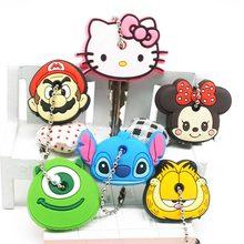 f90289d26 1 PCS Cute Cartoon Silicone Keychain Women Key Caps Anime Stitch Kitty Key  Cover Minnie Key Chains Key Holder Girlfriend