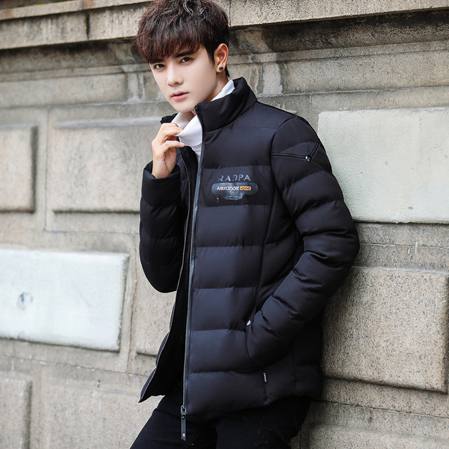 aabcc588777 2018 Korean Slim Student Style Coat Casual Thick Winter Jacket Men Warm  Good Quality Male Jackets Oversize 4XL Parka Man