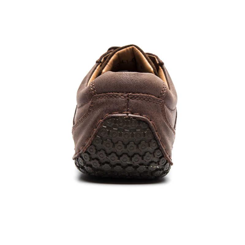 Lingge marca homem sapatos de couro genuíno rendas sapatos masculinos sola de borracha antiderrapante sapato casual masculino diariamente vintage sapato artesanal