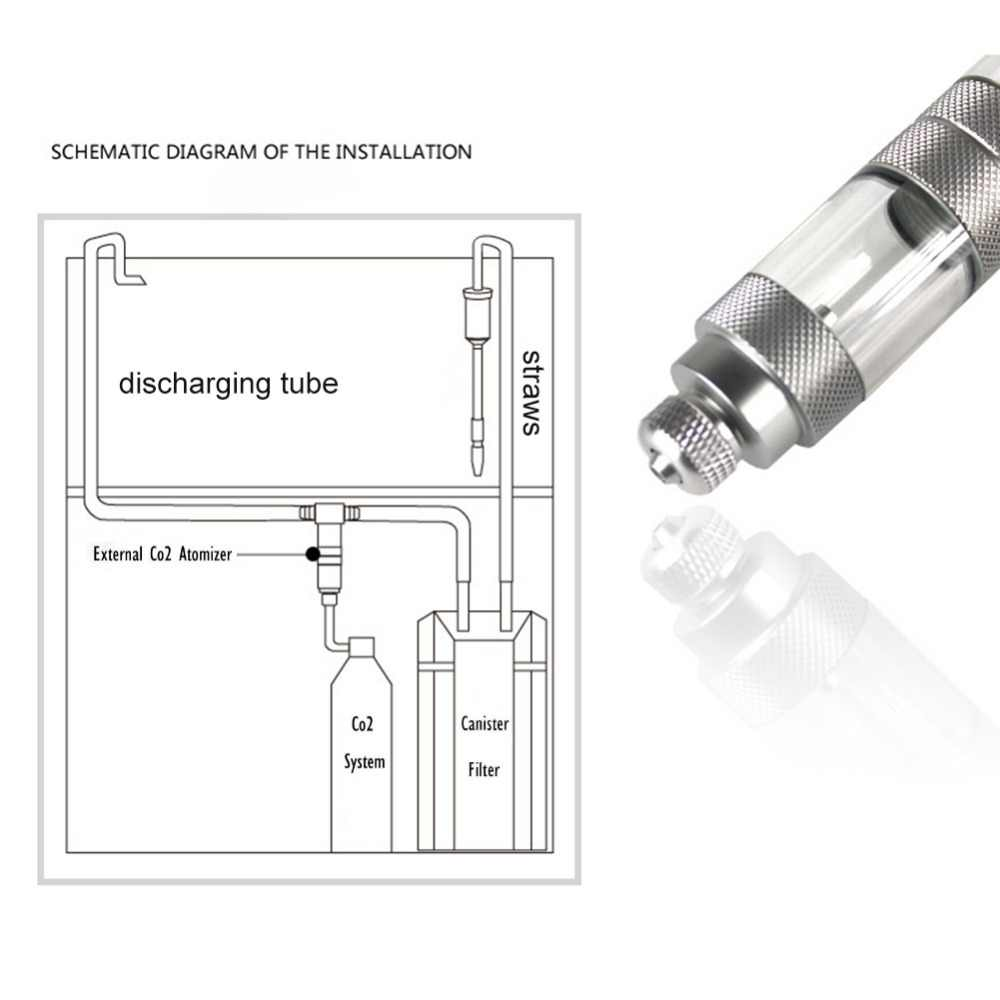 hight resolution of  stainless steel external u tubes bend co2 diffuser aquarium tank carbon dioxide atomizer regulator reactor