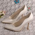 "Multiple Colours Ivory Pointed Toe 3"" Stiletto Heel Satin Wedding Bridal Pumps High Heel Women Shoes"