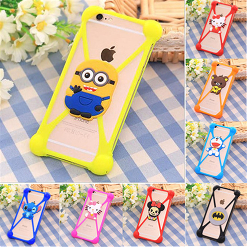 Universal Soft Silicone Cartoon Case Cover for Samsung Galaxy Express 2 G3815/Win Pro G3812 Grand 2 Duos G7106 G7108 Coque