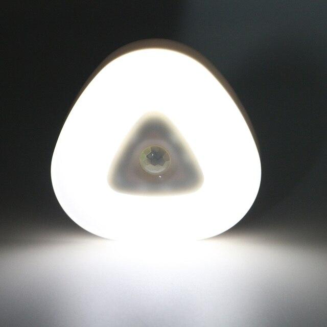 Phổ LED Ánh Sáng Ban Đêm Pin AAA Hỗ Trợ Cảm Biến Ánh Sáng PIR Cơ Thể Con Người Chuyển Động Giường Đèn Đèn Ban Đêm Cho Trẻ Em Bé