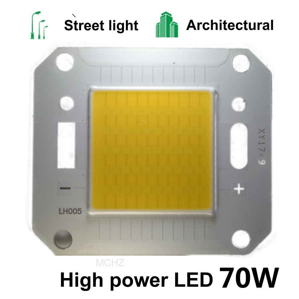10pcs White / Warm White 50W 70W LED Light Chip DC 30V COB Integrated LED Lamp Chip DIY Floodlight Spotlight Bulb