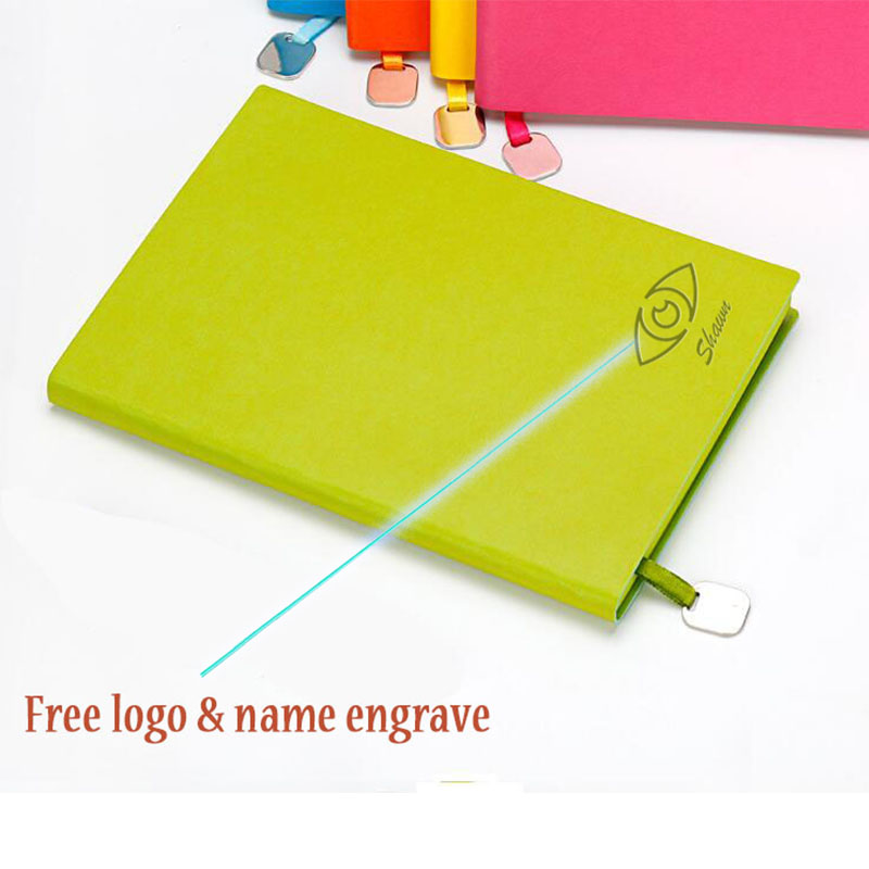 Logo name Customized Leather A5 Notebook Journal Diary Planner Notepad for Kids Gift Writing Note Pads Office School Supplies a6 loose leaf binder notebook leather business lockable writing pads office school supplies logo name customized diary gift