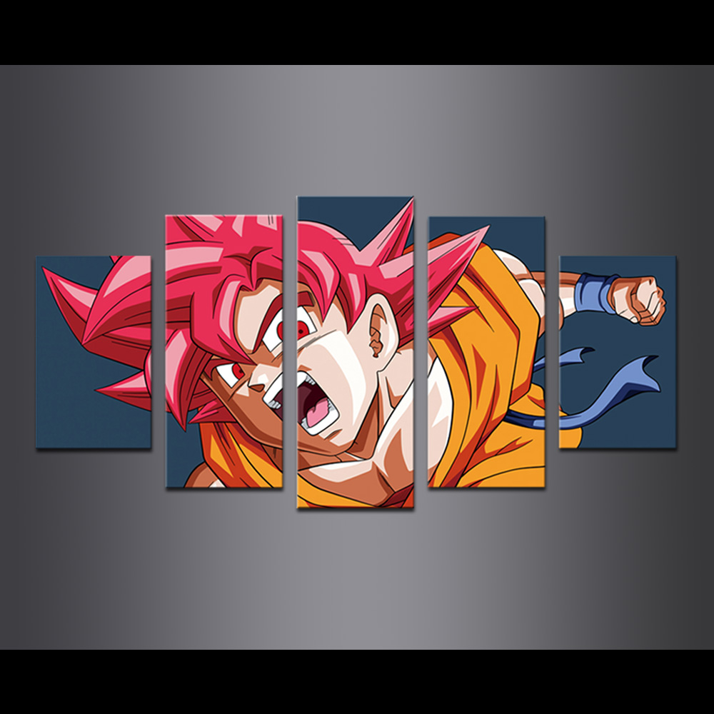 Unframed Canvas Prints Animatio Dragon Ball Sun Wukong Giclee Modular Picture Wall Pictures For Living Room Wall Art Decoration