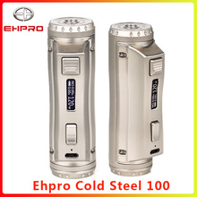 Newest Ehpro Cold Steel 100 120W TC Vape MOD 0.0018S Ultrafast Firing Speed fit 21700/20700/18650 E cigarette TC control Mod wismec reuleaux rx2 21700 230w tc mod 8000mah with dual 21700 batteries battery balance charge system upgradeable firmware vape