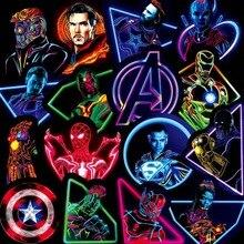 30PCS Neon Marvel Super Hero The Avengers Stickers Skateboard Fridge Phone Guitar Motorcycle Luggage PVC Waterproof