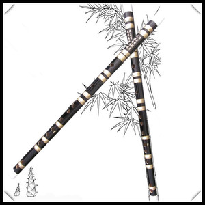 Hot sell Bamboo Flute Transverse Flauta woodwind Musical Instruments Dizi Key of F or G Chinese xiao black color for beginner
