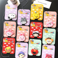 Mobile phone stand cartoon with drop-proof expandable airbag bracket for iPhone X XS XR 8 7 6s Samsung