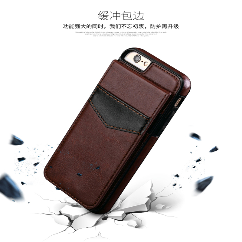 For Samsung Galaxy S8 & S8 Plus Case Vintage Slim Crazy Horse Leather Wallet Bag For iphone 7 7 Plus Cover Card Slots Back Coque
