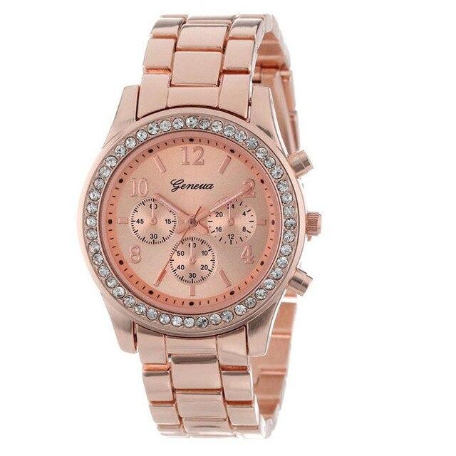 Fashion 2019 Watch Women Bracelet Date Ladies Watch With Rhinestones High Qualit