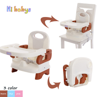 Portable Baby Feeding Chair Foldable Kids Booster Seat Highchair with Table Tray Children Travel Ajustable Foldable Chair