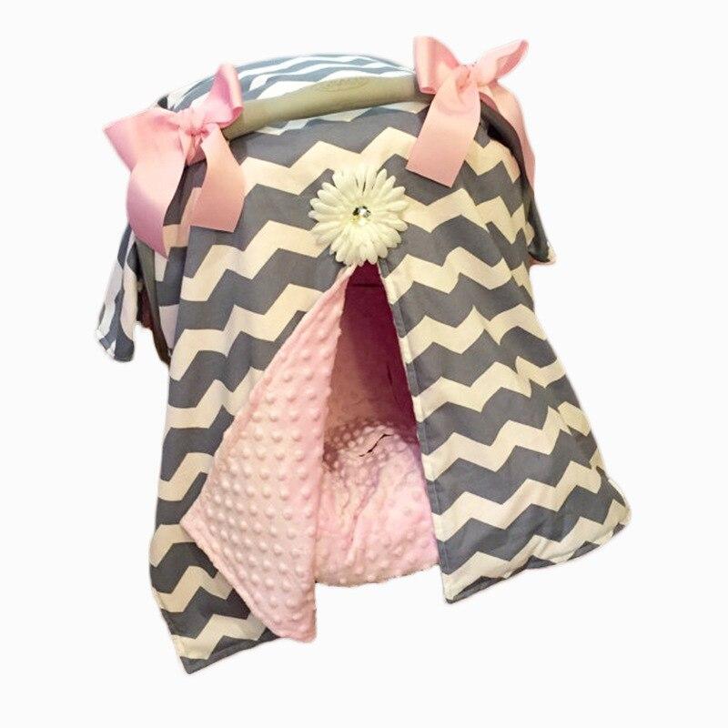 cotton baby blanket car seat canopy cover infant children newborn adjustable soft minky blankets. Black Bedroom Furniture Sets. Home Design Ideas
